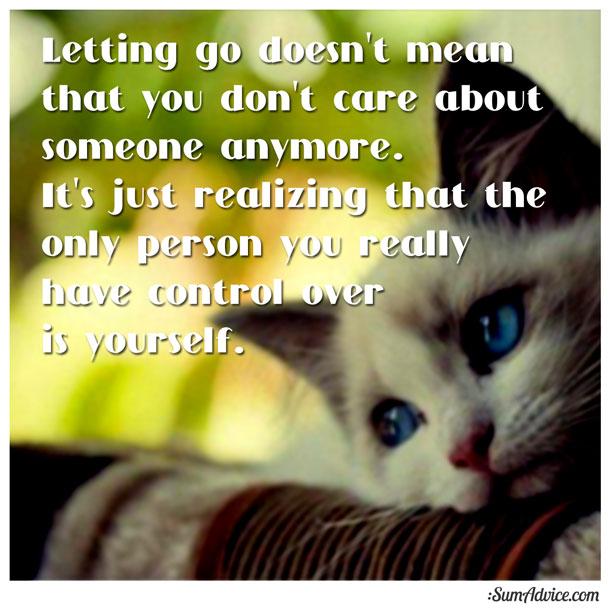 how to really let go of someone