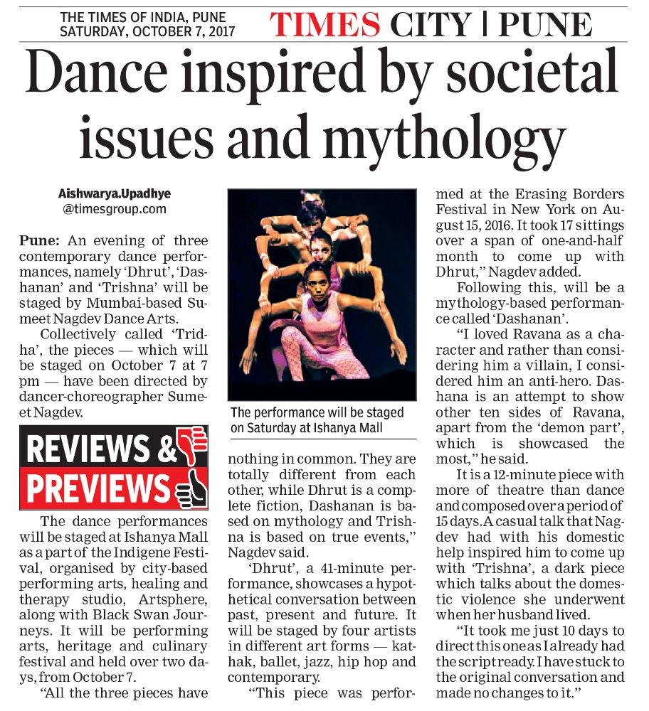 Dance inspired by Societal issues