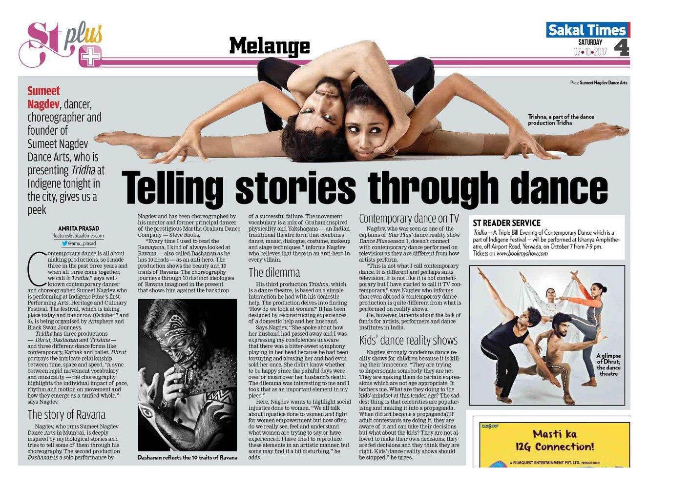 Telling stories through dance