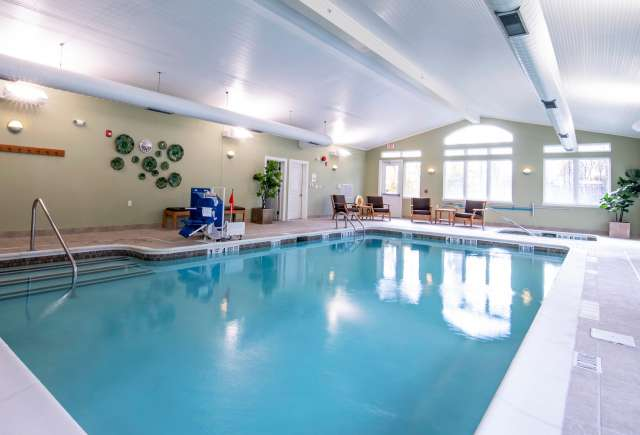Resident pool at Summit At Glenwyck, a senior living community in Glenville, NY