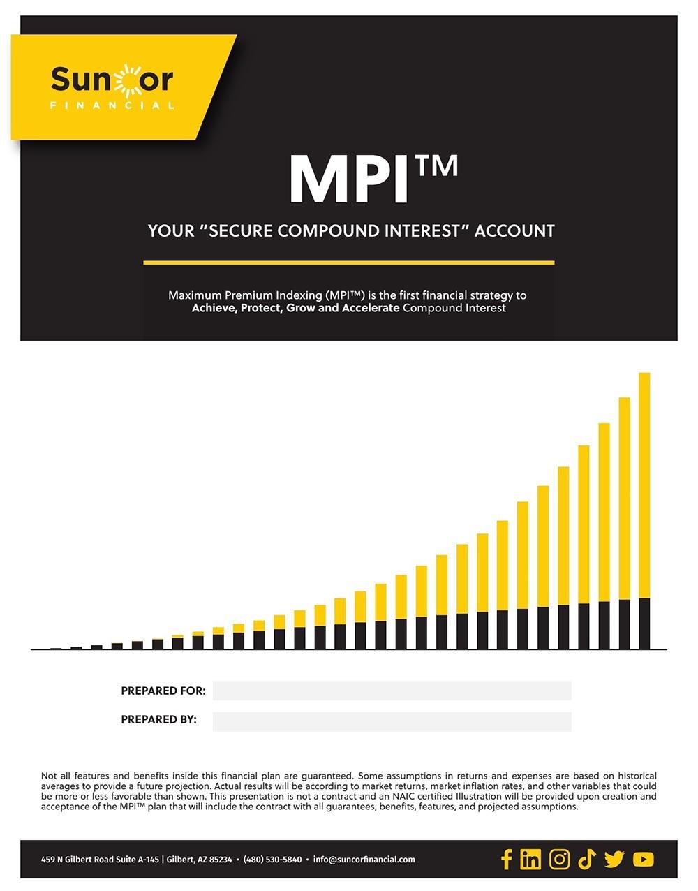 MPI® Financial Plan Cover
