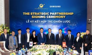 "Sunshine Group ""shakes hand"" with technology giant Samsung, materializing a desire to raise Vietnam real estate."