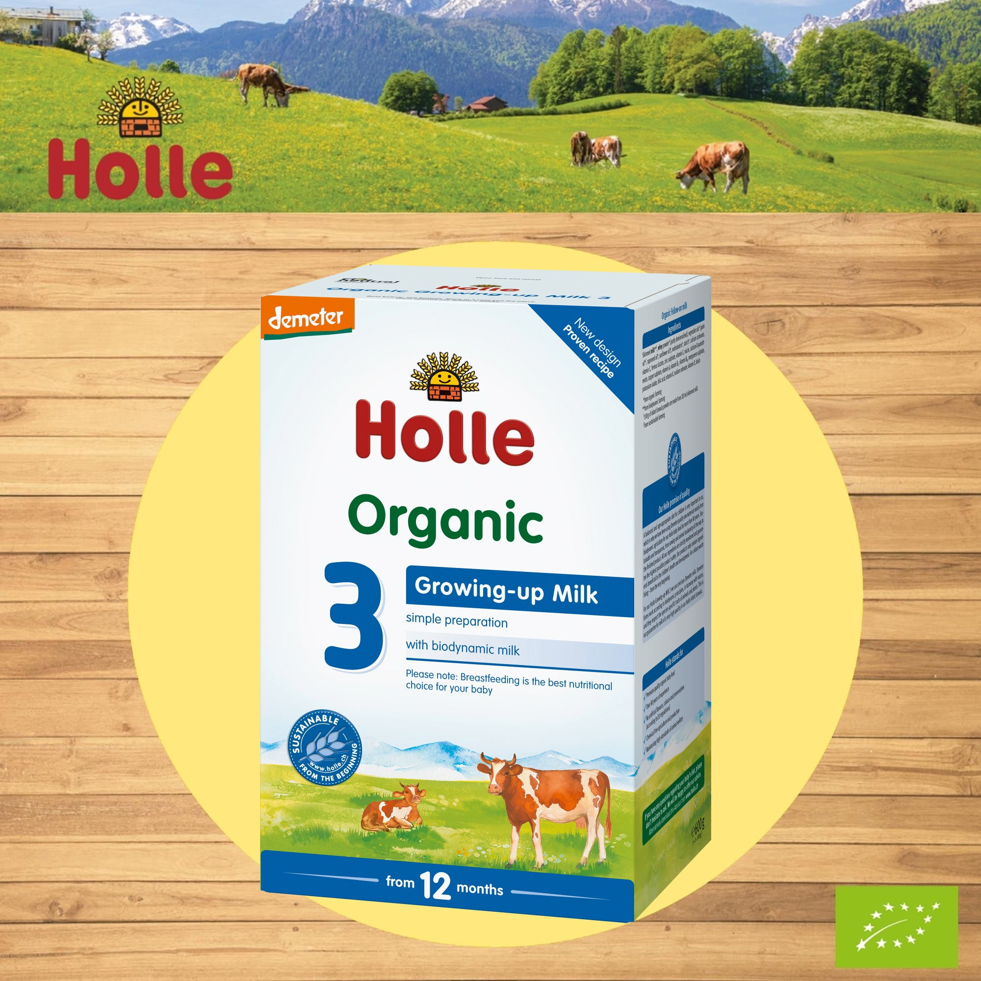 Holle Organic Growing-Up Milk 3 600g