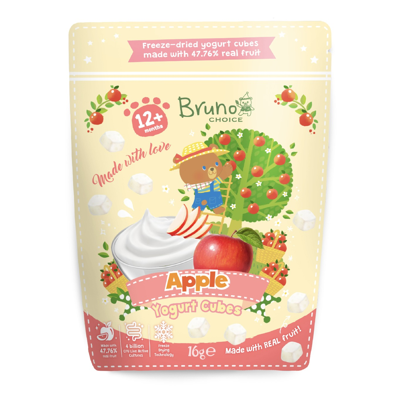 Bruno Choice Apple Yogurt Cubes 16g