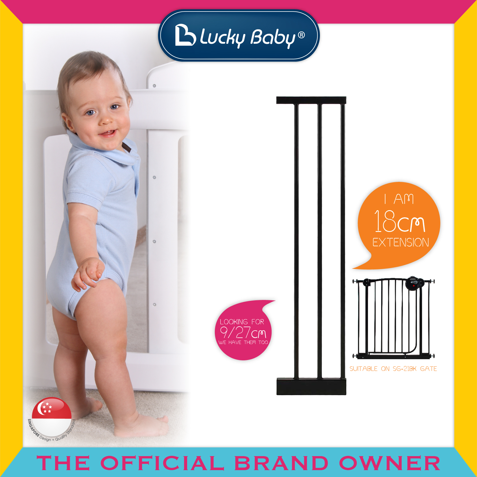 Lucky Baby® SG-21BK Smart System™ 2 Way Swing B