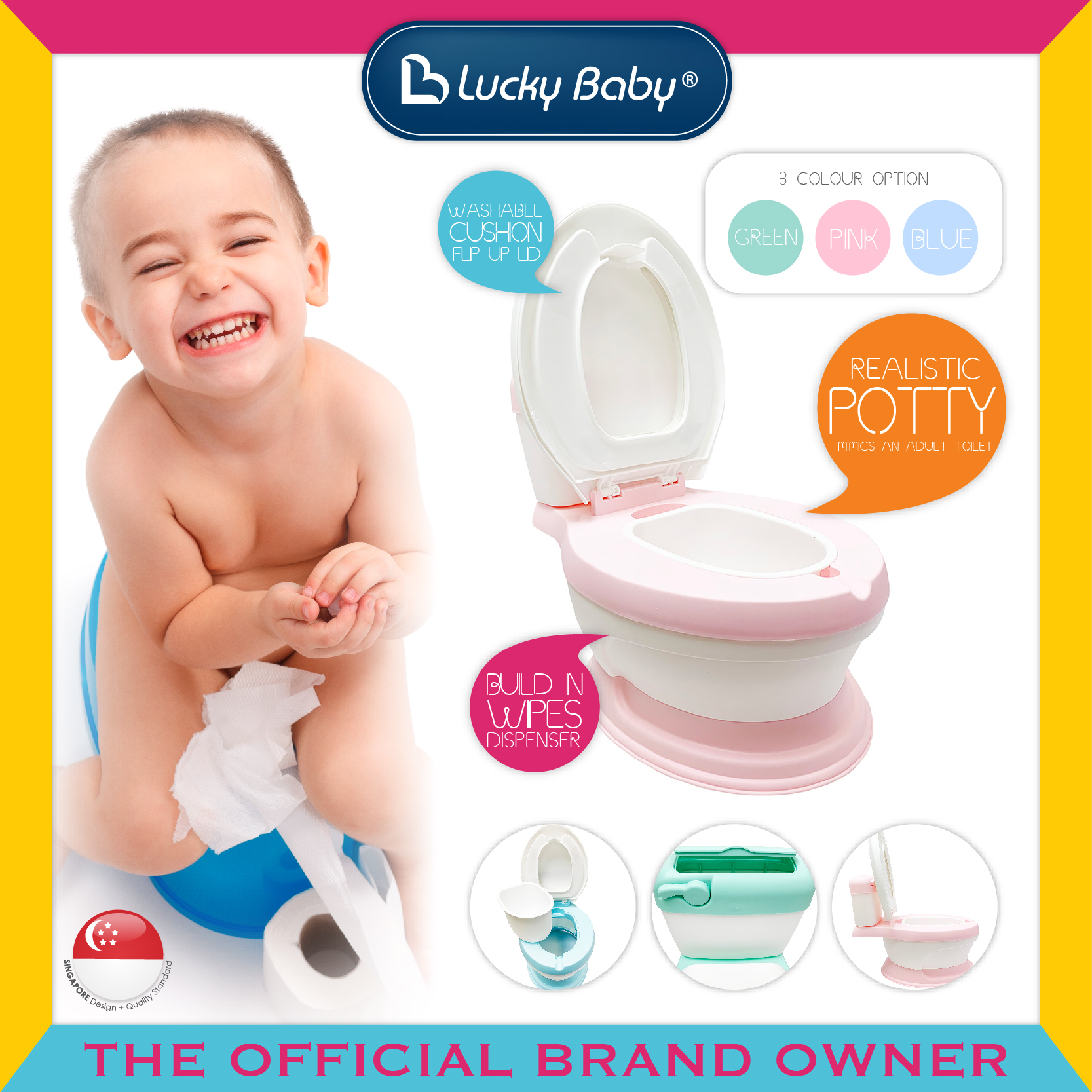 Lucky Baby® Mini Toilet Potty (3 Colour Option)