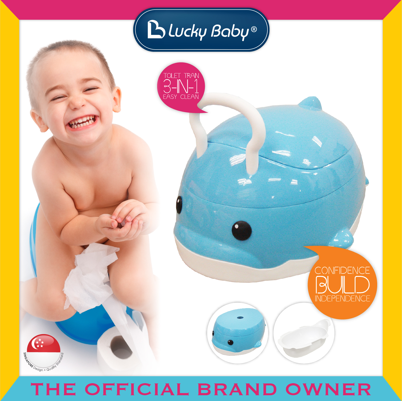 Lucky Baby® 3 In 1 Potty - Toilet Bo Bo
