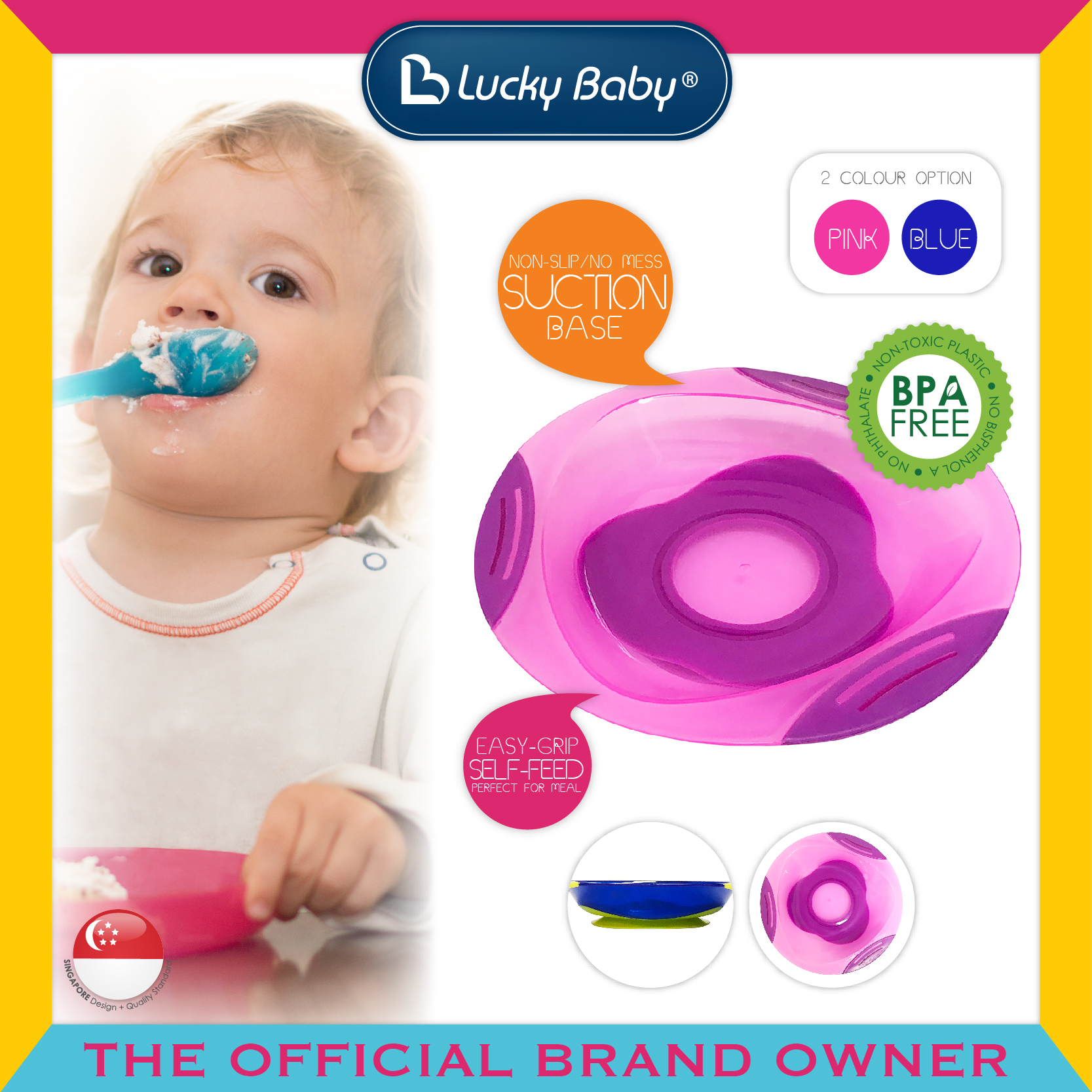 Lucky Baby® Platter™ Suction Plate (2 Colour Op