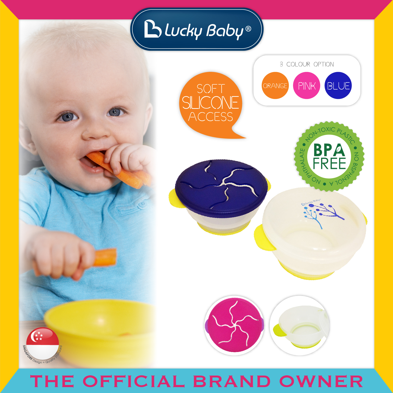 Lucky Baby® Munchie-Pot™ Snack Holder (3 Colour
