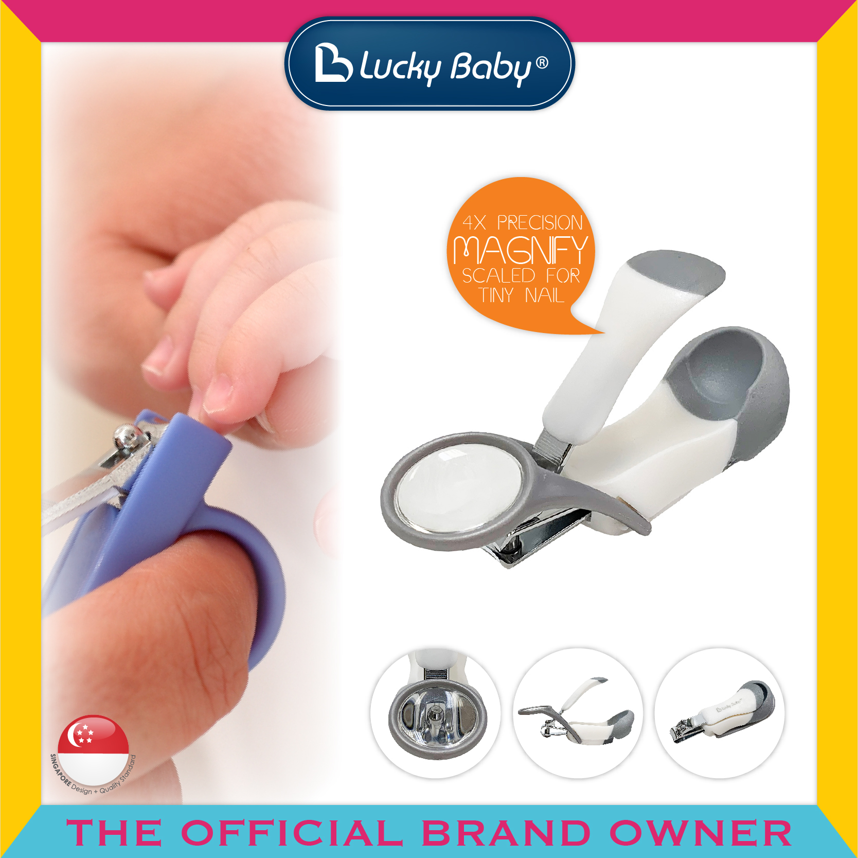 Lucky Baby® Kleer™ Nail Clipper W/Magnifier