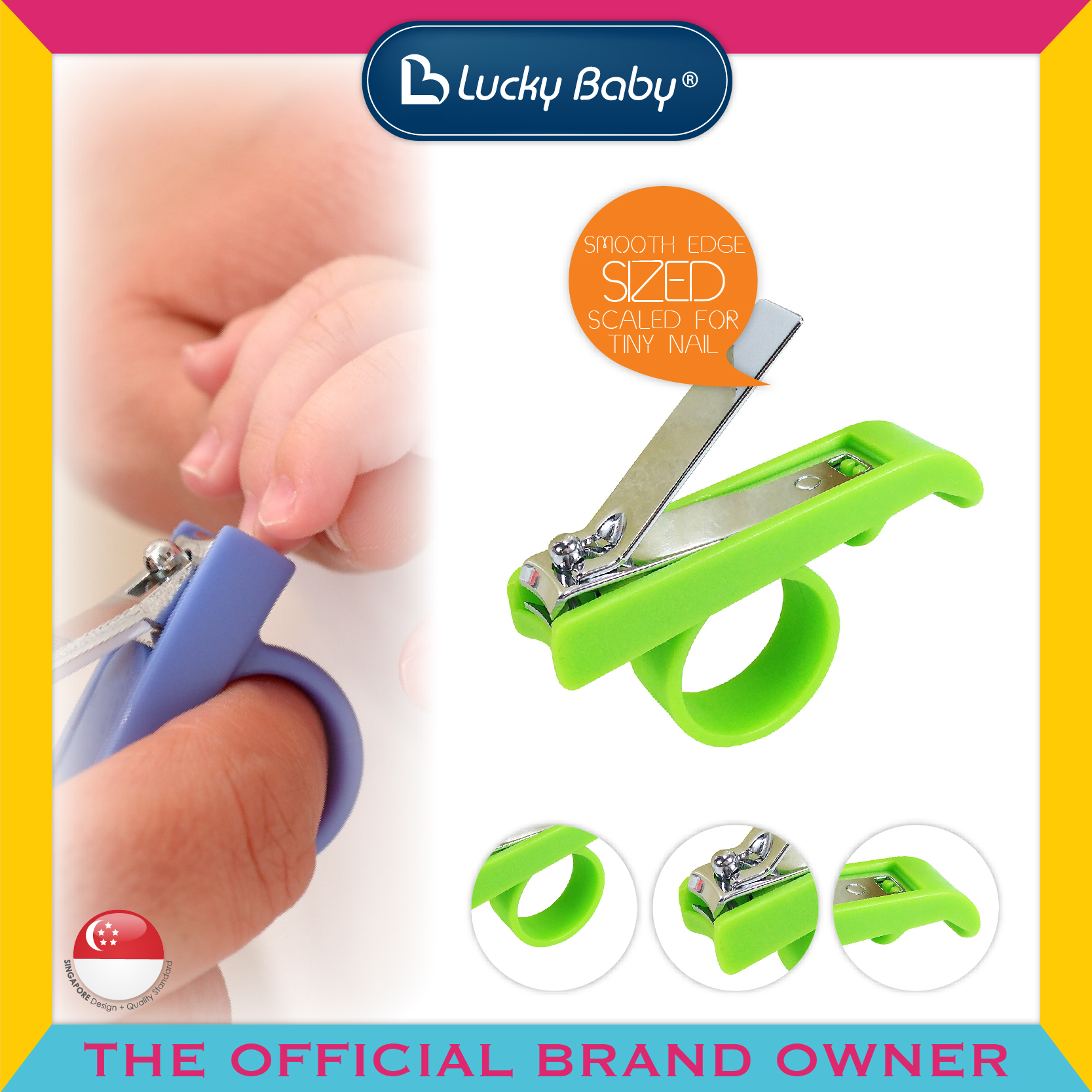 Lucky Baby® Eezee™ Grip Nail Clipper