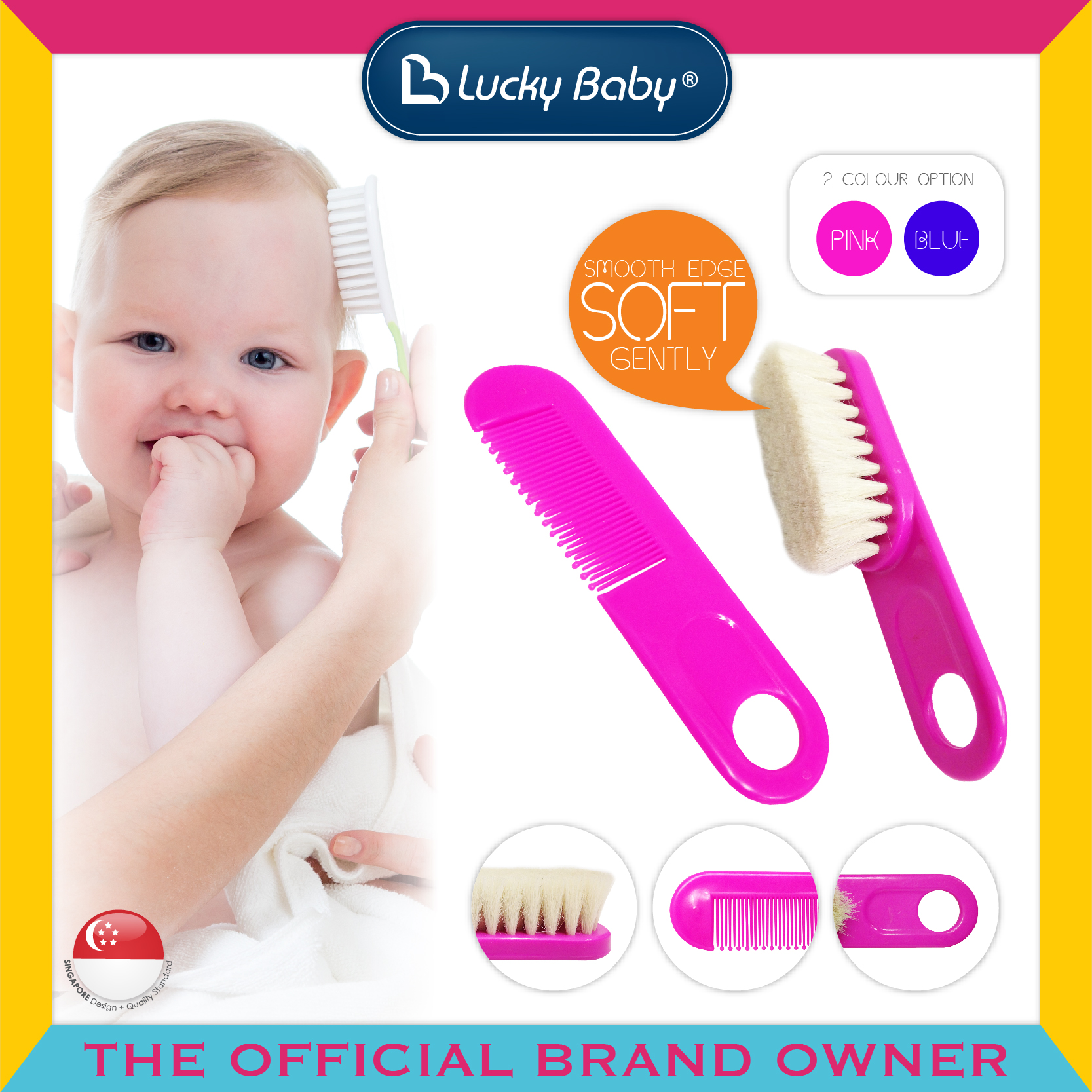 Lucky Baby® Neety™ Brush & Comb Set (2 Colour O