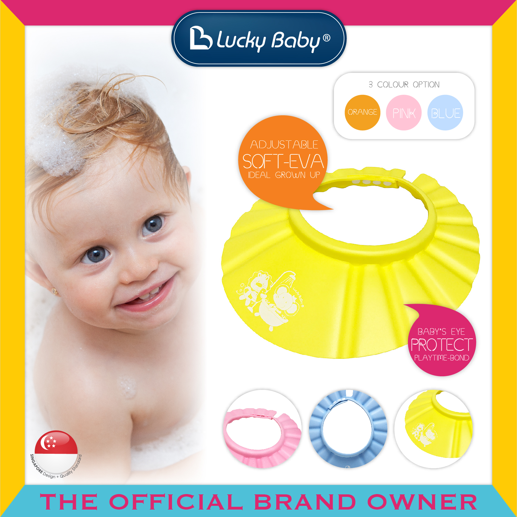 Lucky Baby® Shower™ Cap (3 Colour Option)