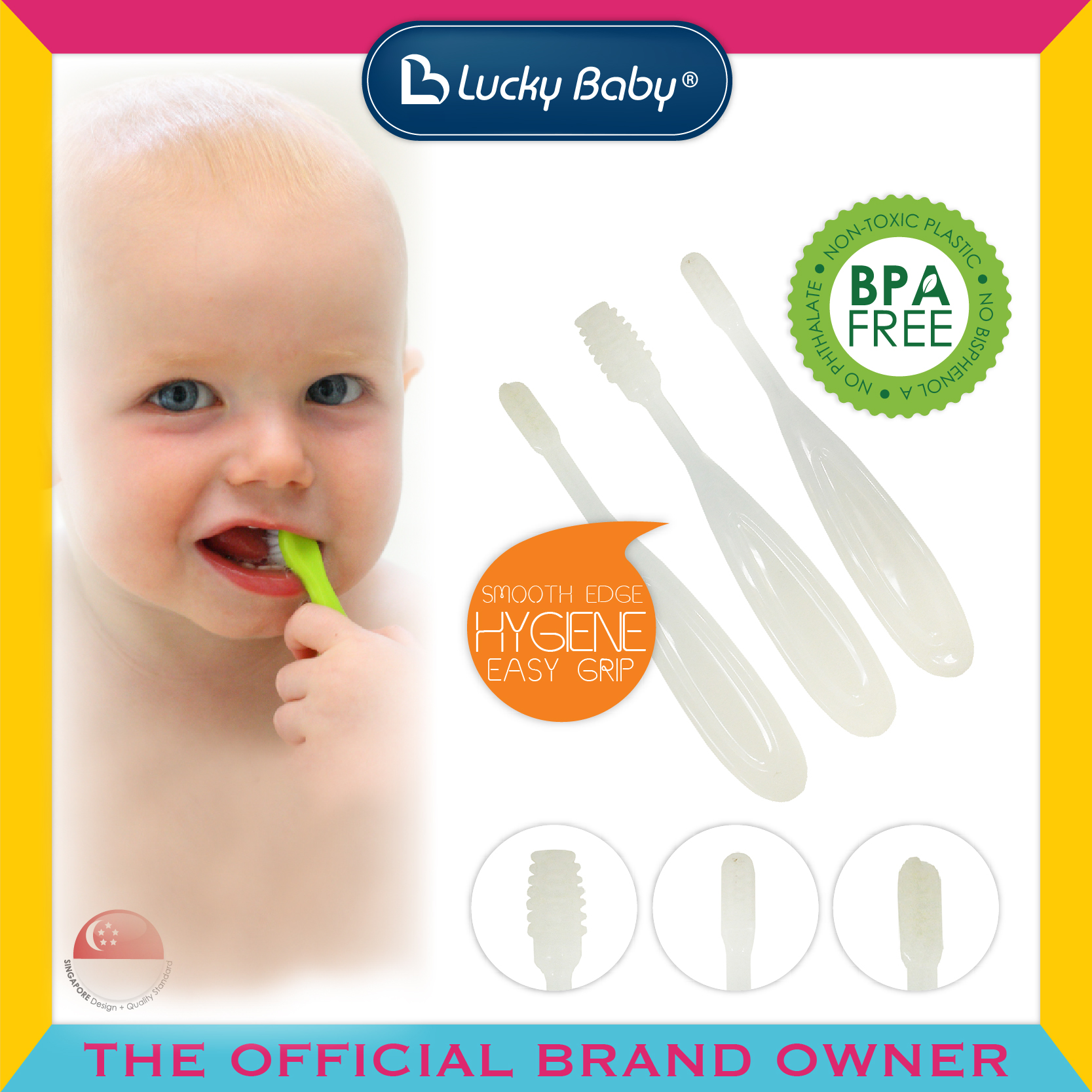 Lucky Baby® Basic™ Toothbrush Set