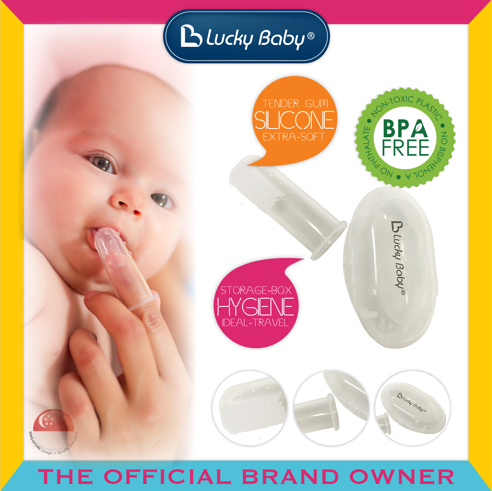 Lucky Baby® Finger™ Silicone Brush