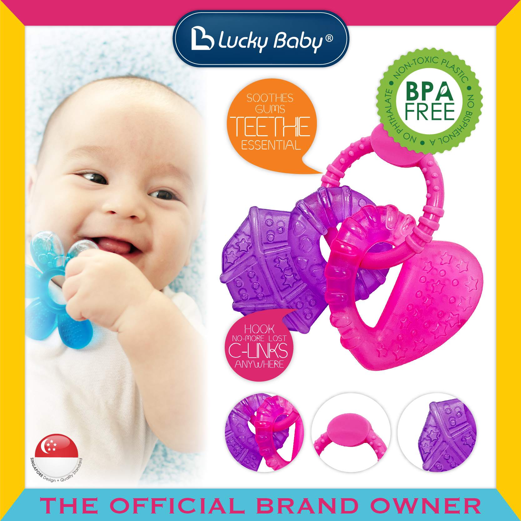 Discovery Pals™ Aqua Fun™ Teether With Link -