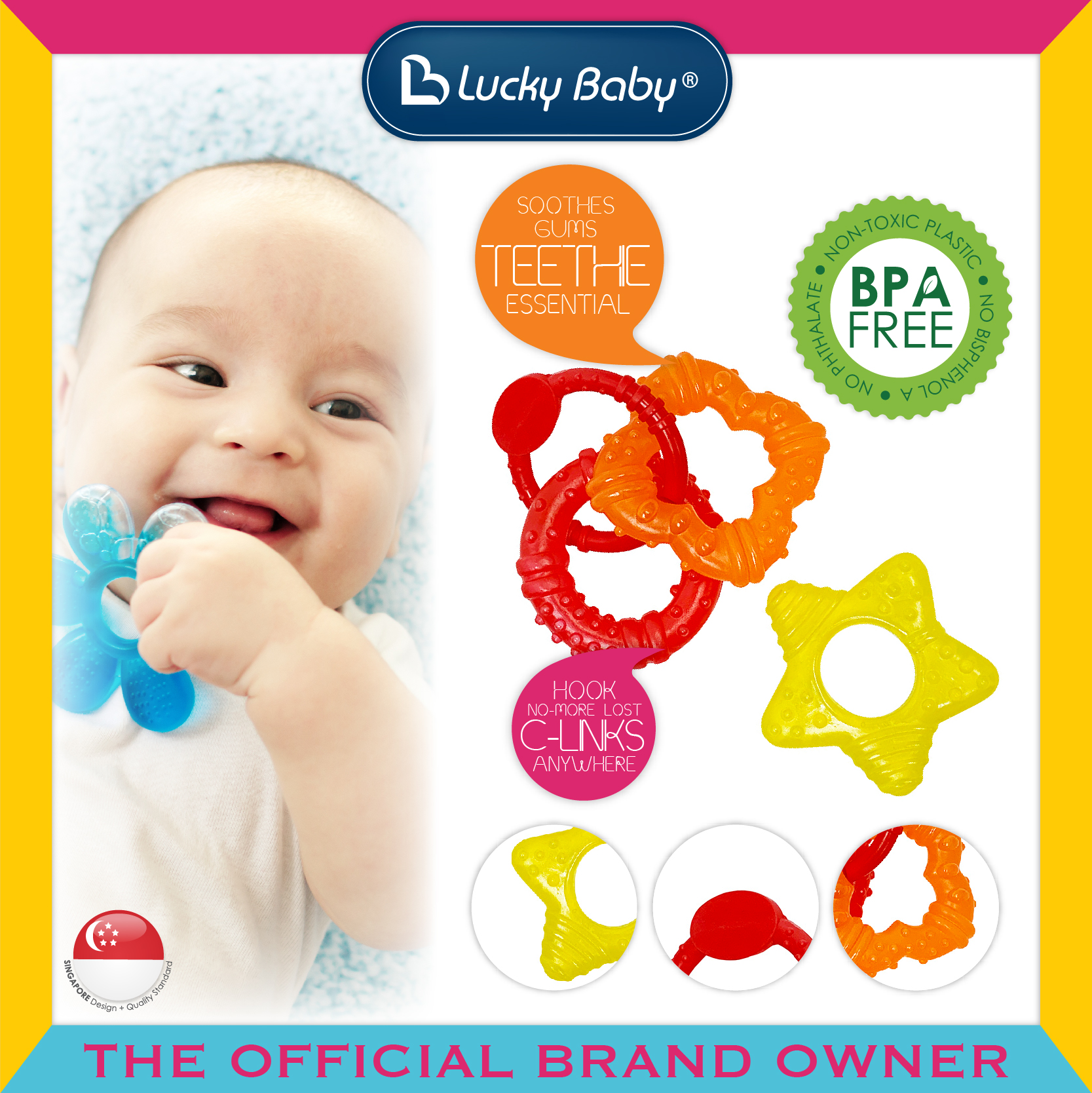 Lucky Baby® Discovery Pals™ Aqua Fun™ Teether