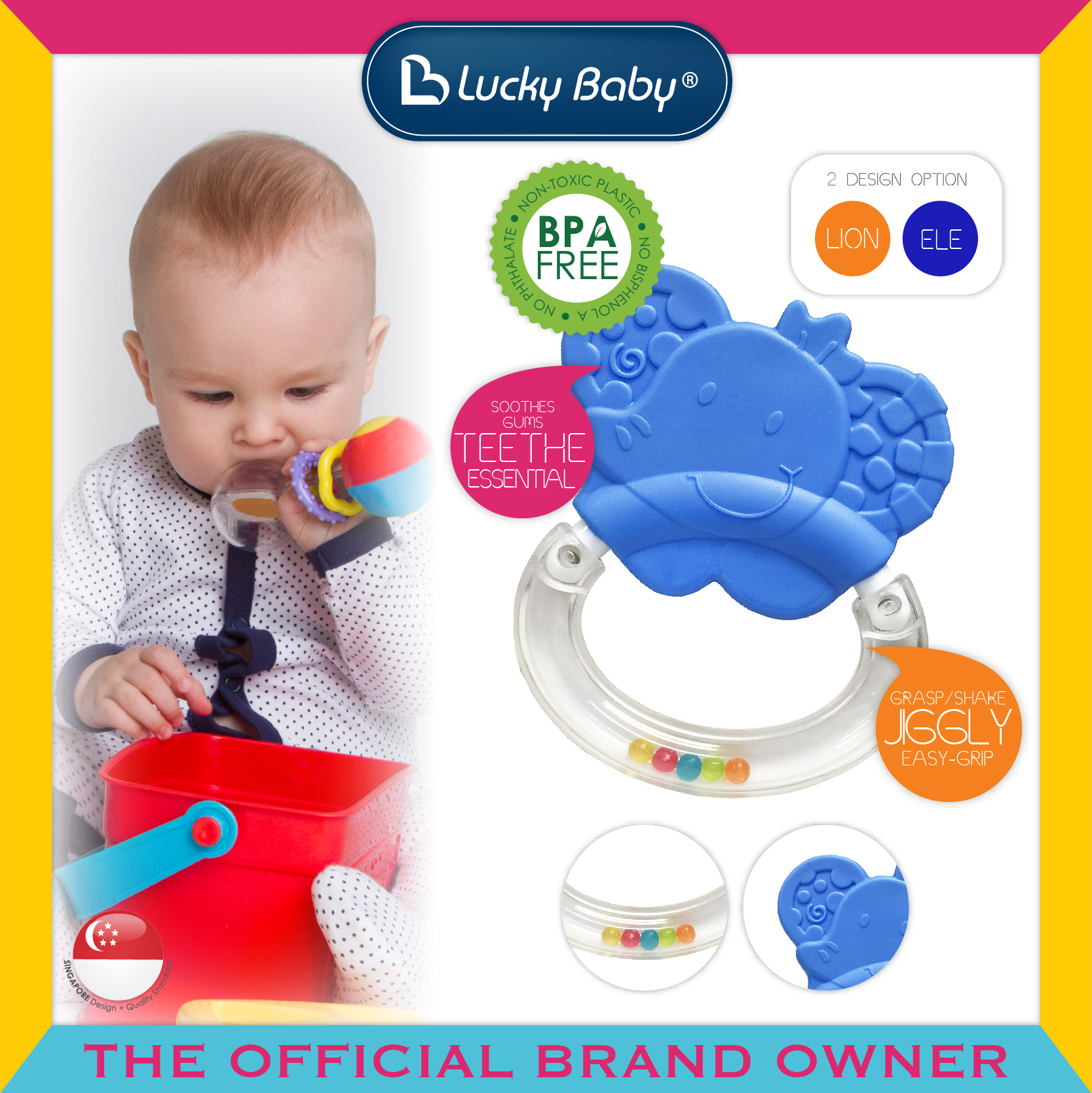 Lucky Baby® Discovery Pals™ Whizzy™ Rattle Te