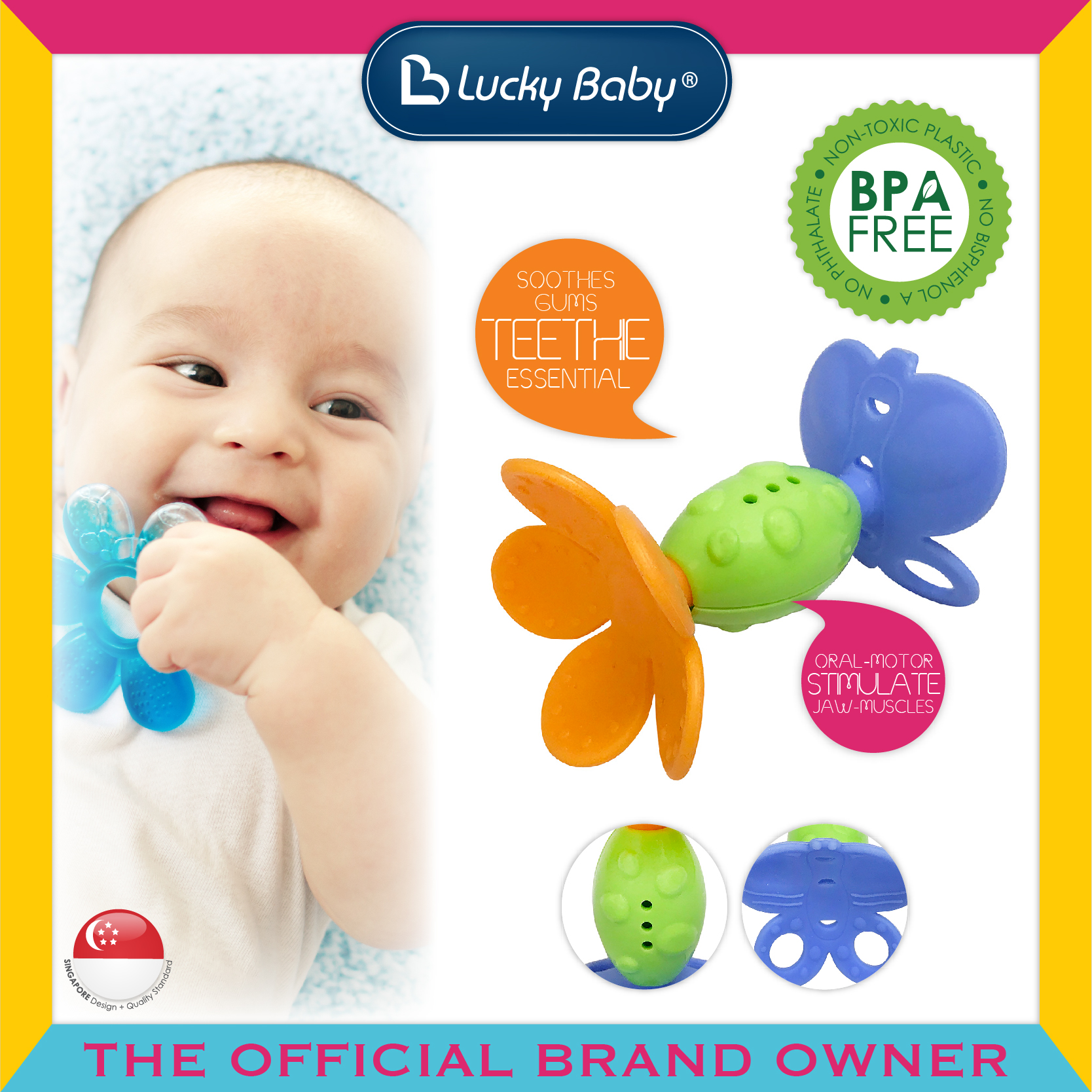 Lucky Baby® Sasee™ Silicone Teether