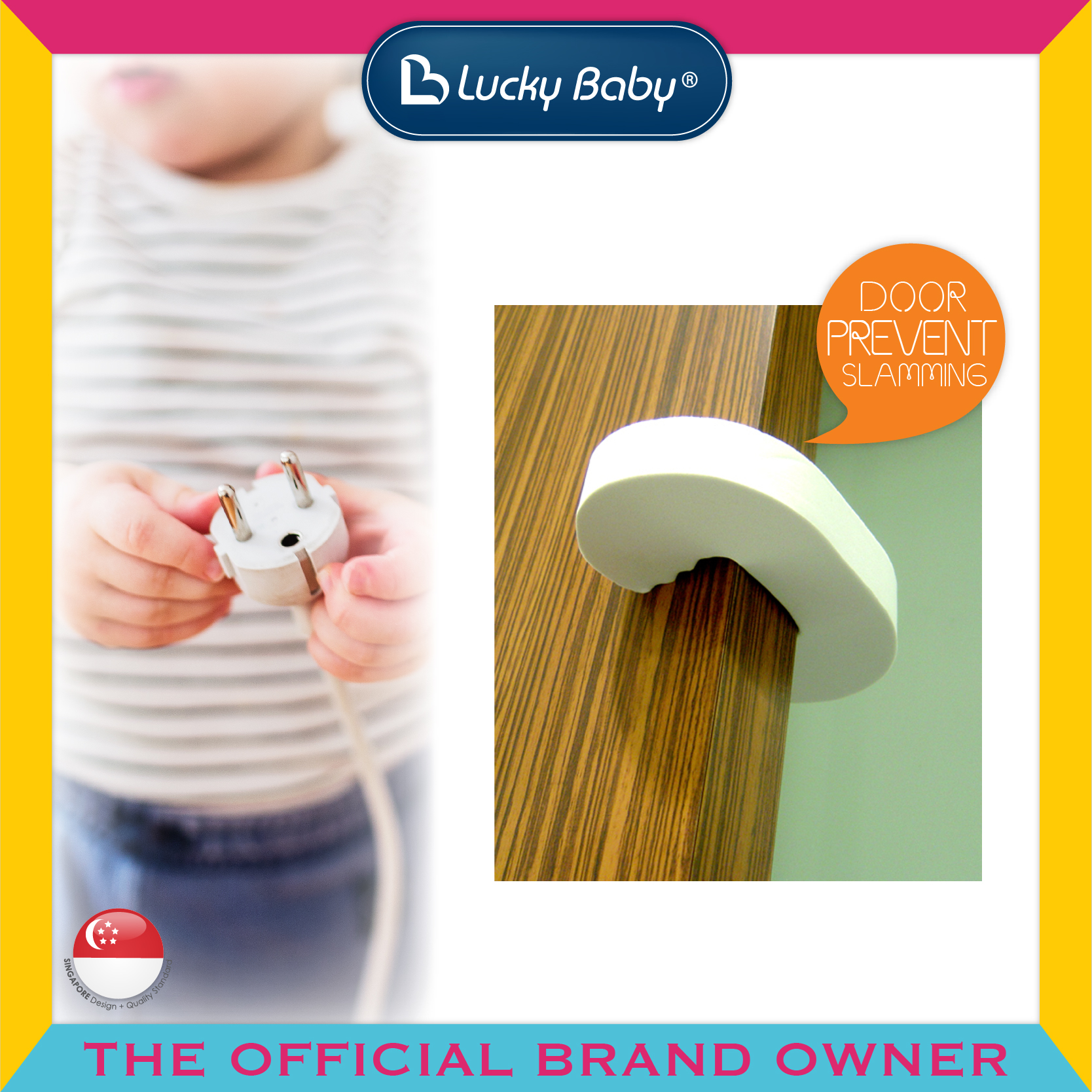 Lucky Baby® Safety™ Foam Door Stopper
