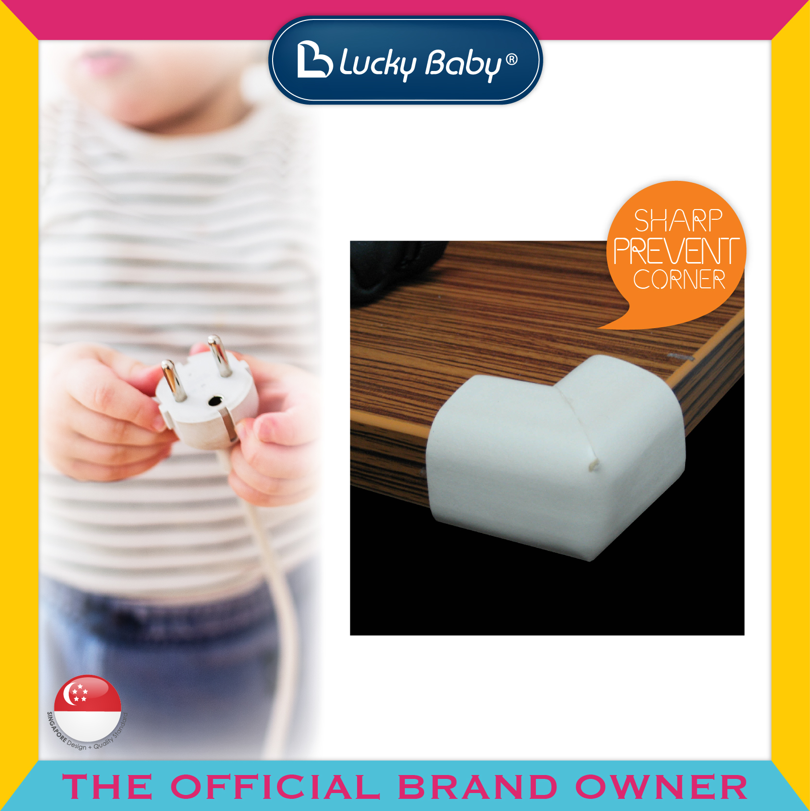 Lucky Baby® Safety™ Spongy Corner Cushions (V-S