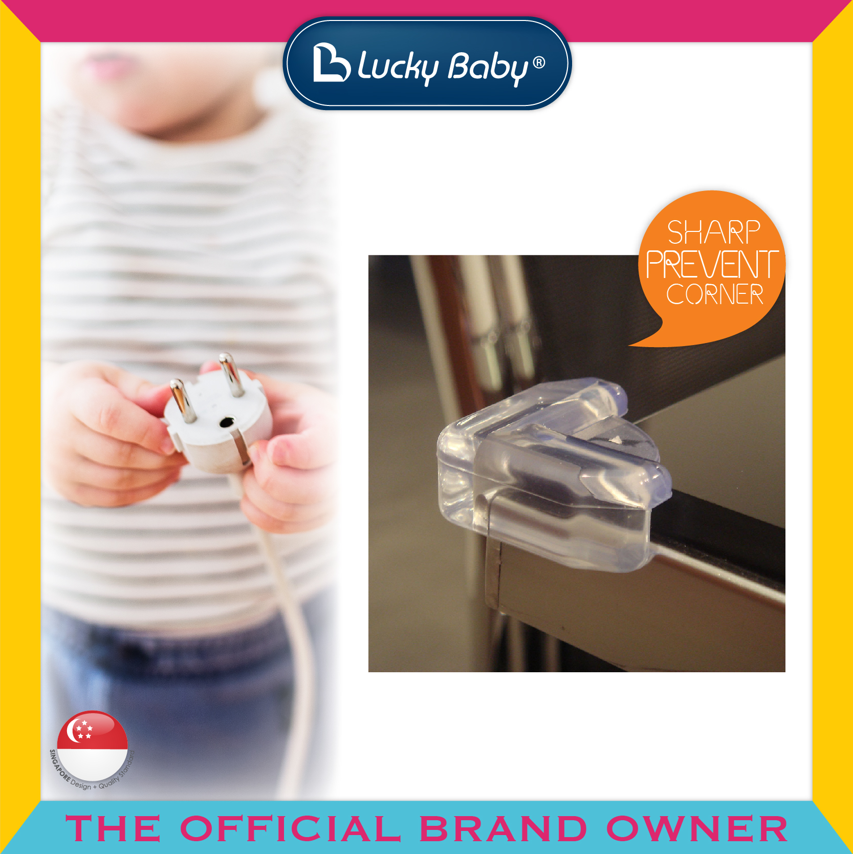 Lucky Baby® Safety™ Table Corner Cushions