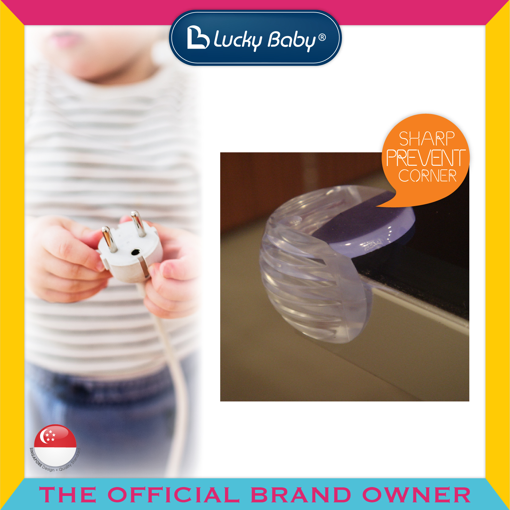 Lucky Baby® Safety™ Table Corner Cushions - Rou