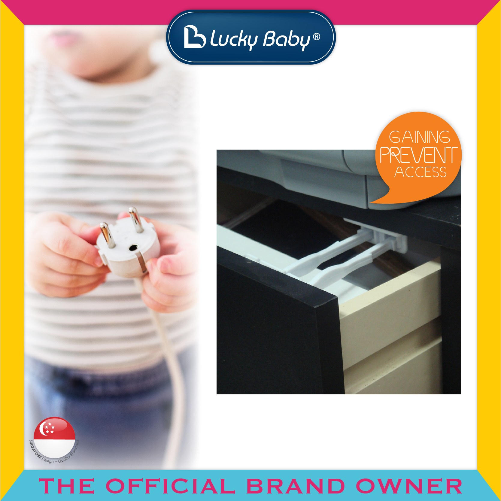 Lucky Baby® Safety™ Drawer Lock