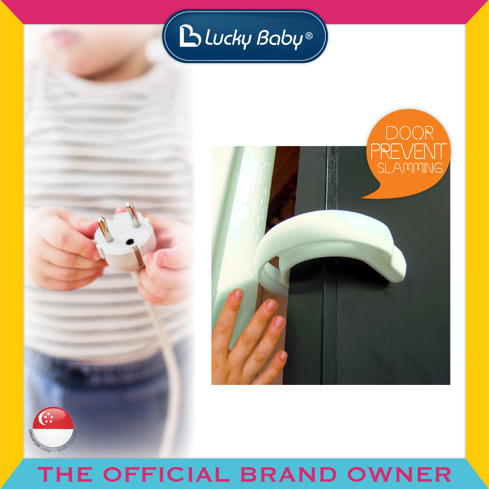 Lucky Baby® Safety™ Anti Slam Door Stopper