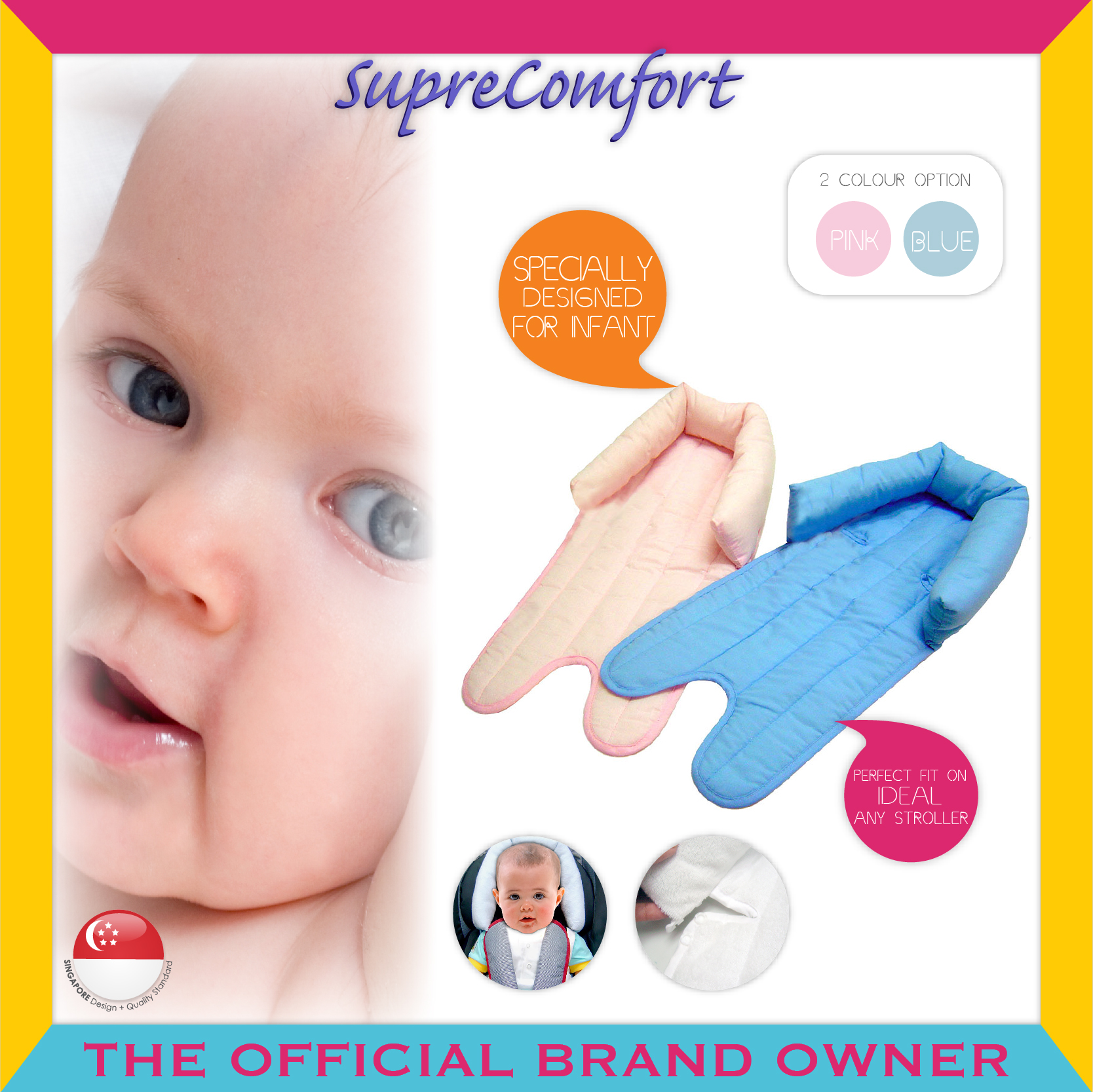 SupreComfort® Best Friends™ Head Snuggler (2 Co