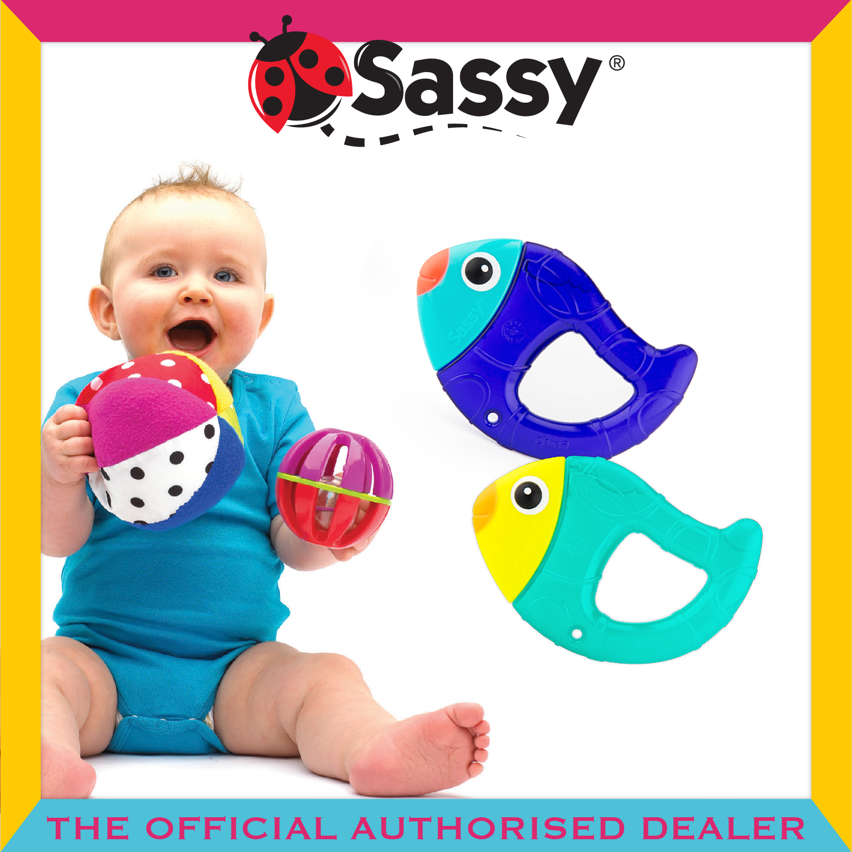 Sassy® Chill N' Chirp Water Filled Teethers