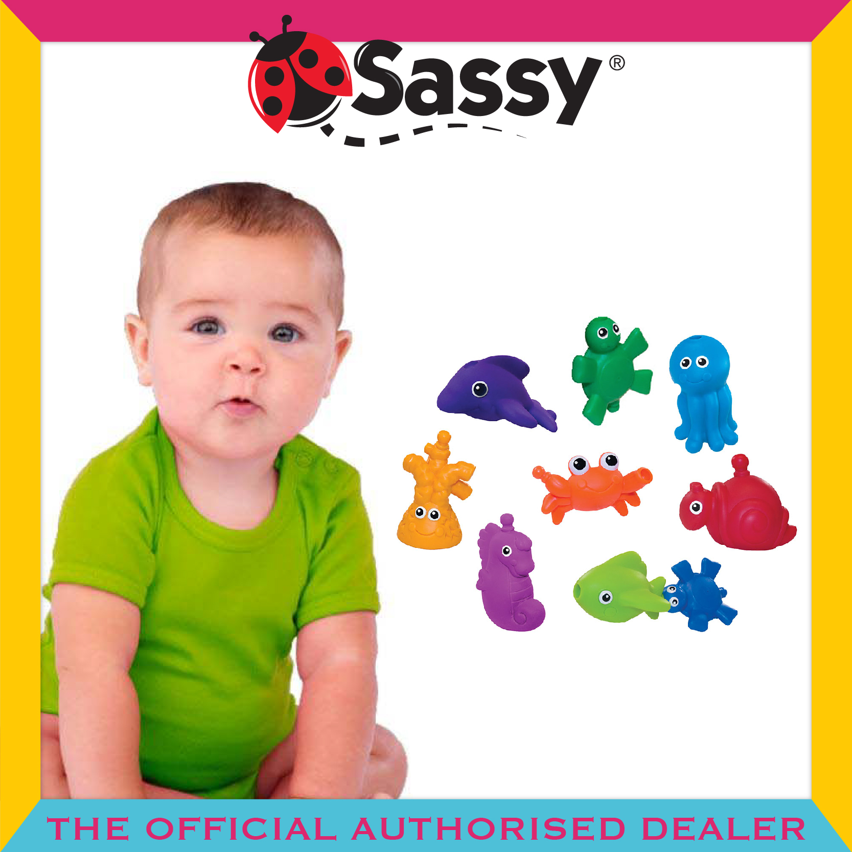 Sassy® Snap & Squirt Sea Creatures