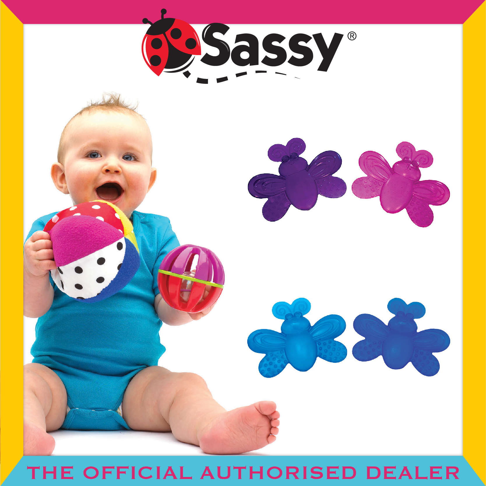 Sassy® Water-Filled Teethers (2 Colour Option)