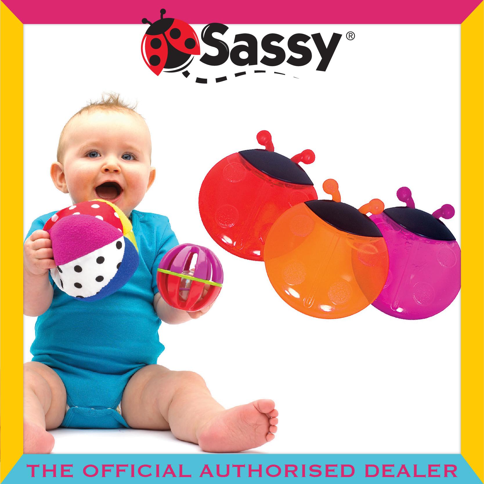 Sassy® Lady Bug Teether - 2pcs/pkt (2 Colour Opti