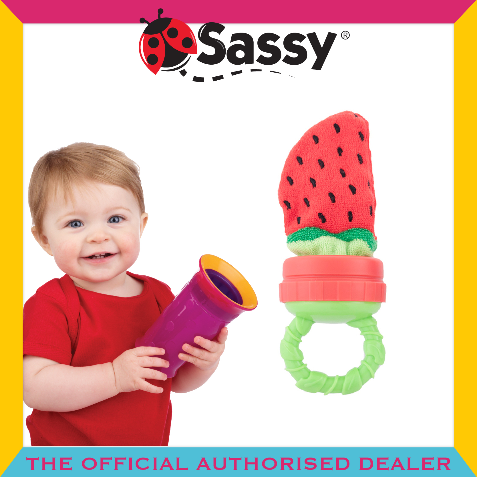 Sassy® Strawberry Terry Teether