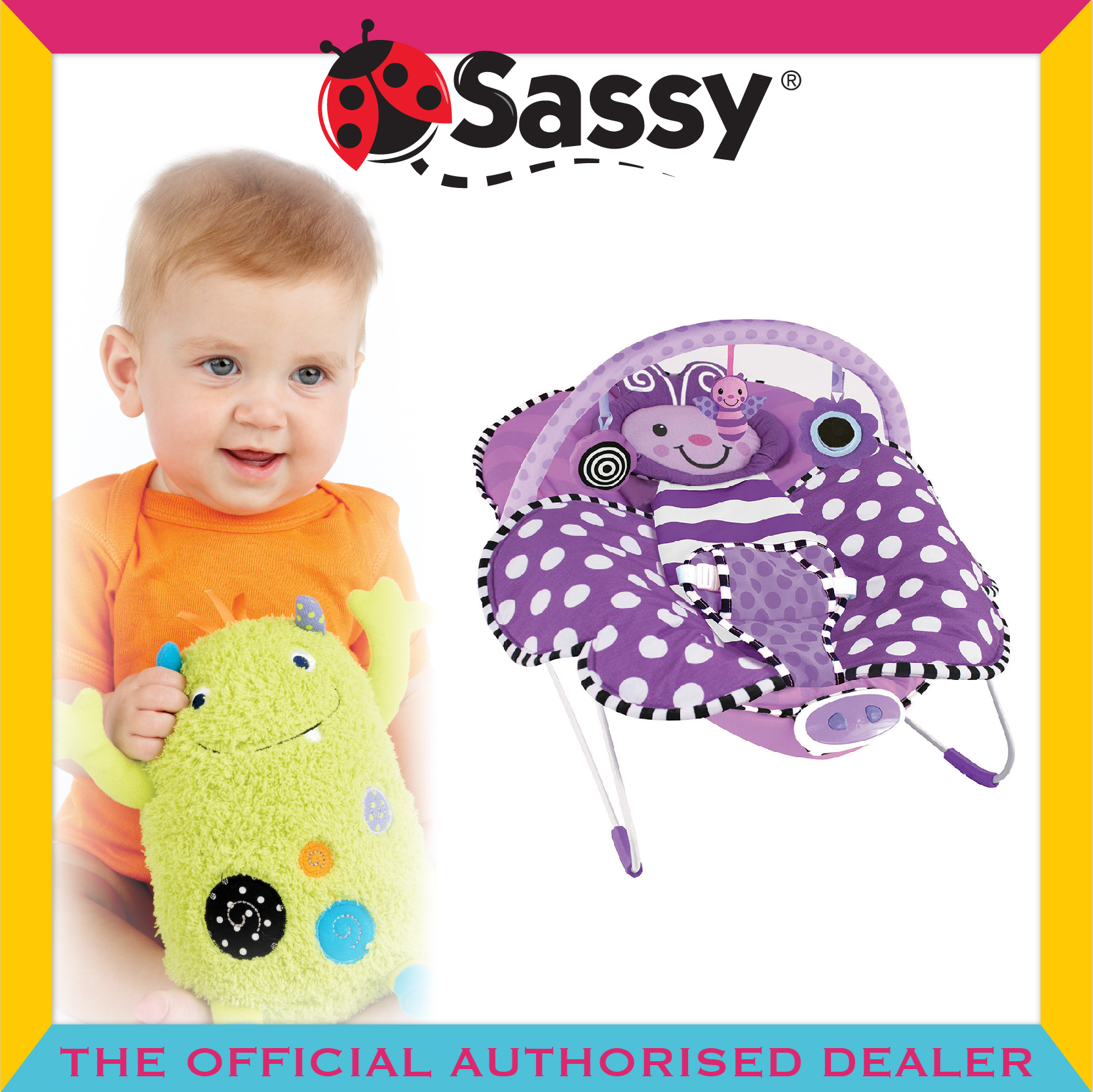 Sassy® Cuddle™ Bug Bouncer - Butterfly
