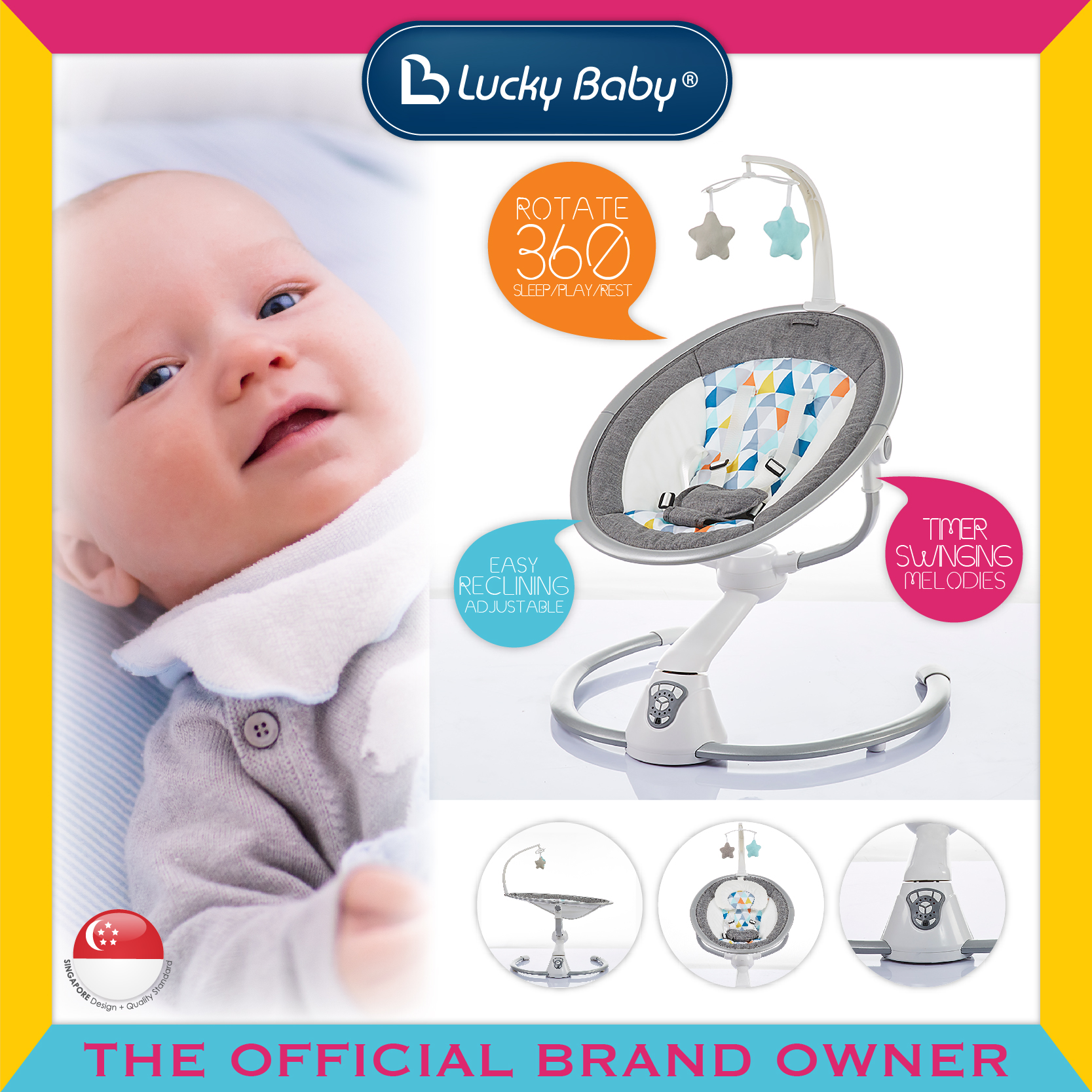 Lucky Baby® 360™ Baby Swing