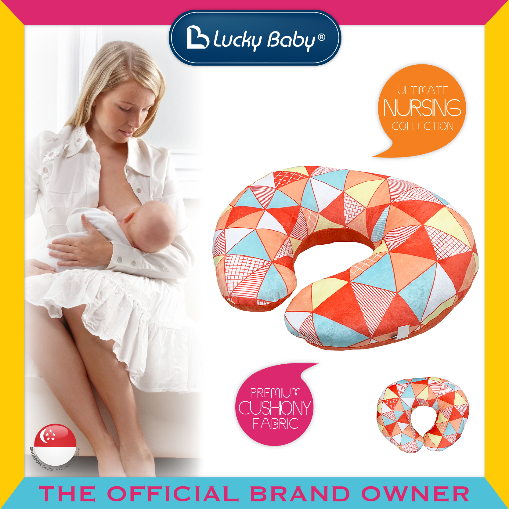 Lucky Baby® Classi'C Nursing Pillow/Positioner -