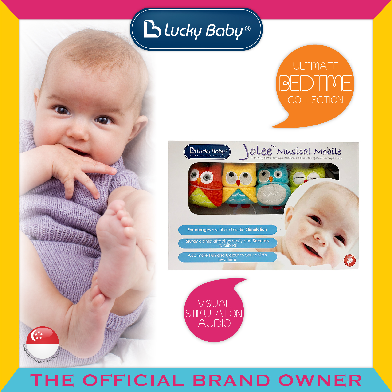 Lucky Baby® Jolee™ Musical Mobile - Owl