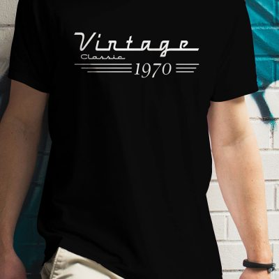 Vintage Classic 1970 - Birthday Shirts for Men