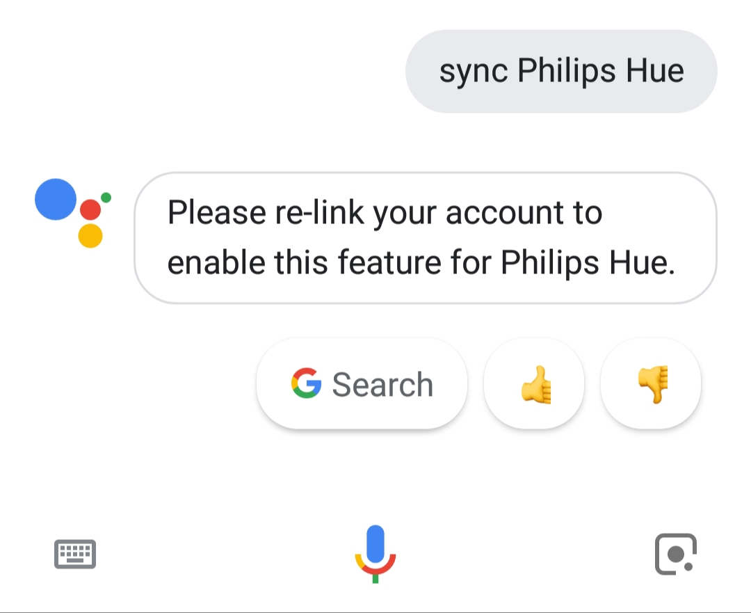 Phillips hue devices are not showing up in google assistance home