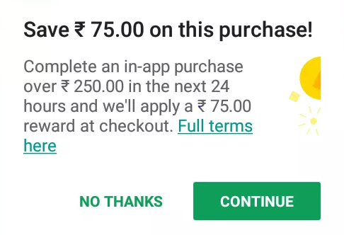 Not Getting Google Play Reward Of Rs 75 Google Play Community