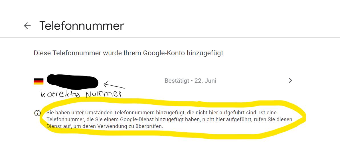 Ohne interhesu: handynummer konto google fentonia.com: IT