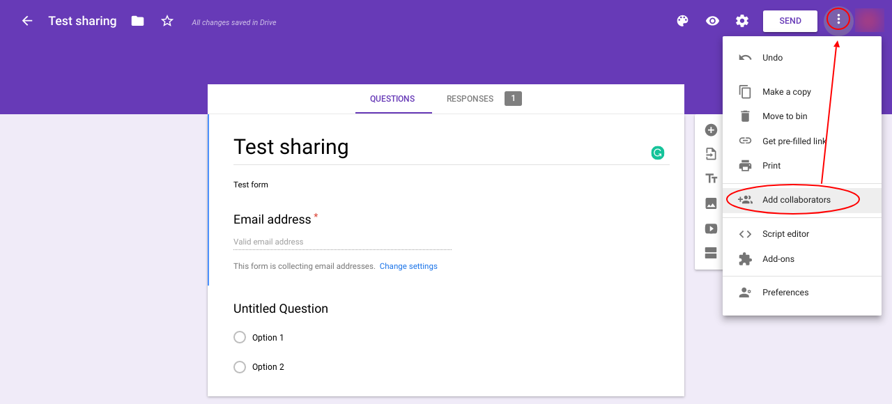 How Can I Change Editing To View Only On A Shared Google Form Google Docs Editors Community