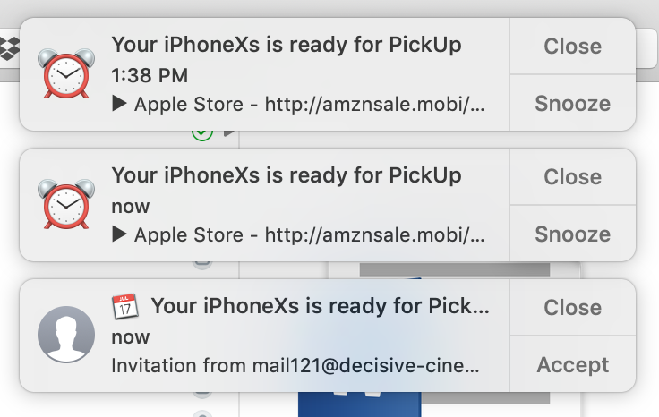iPhone competition event added to my Google Calendar without