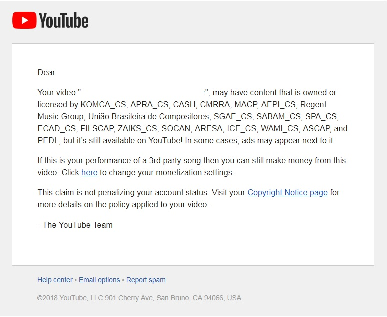 I have had several copyright claims on my channel for doing