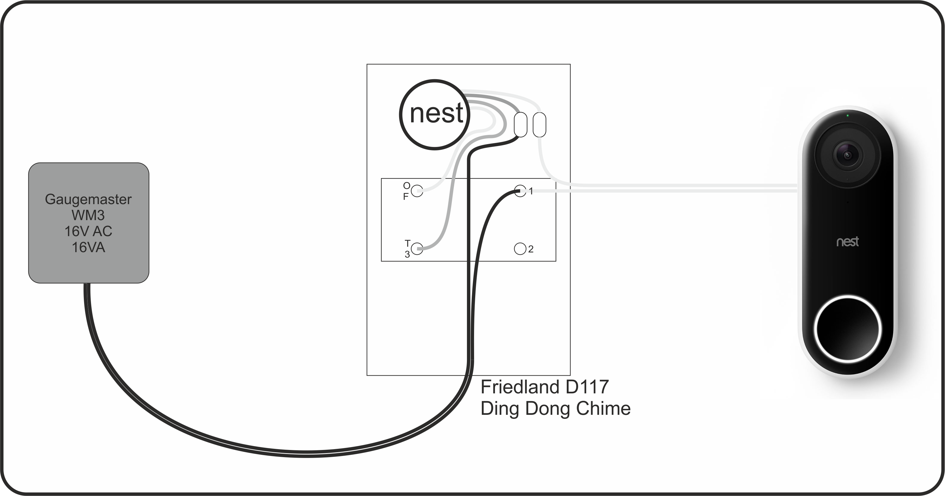 Nest o Without Chime nest chime connector nest o ... Nest Doorbell Wiring Guide on doorbell installation, doorbell wiring design, doorbell sound,