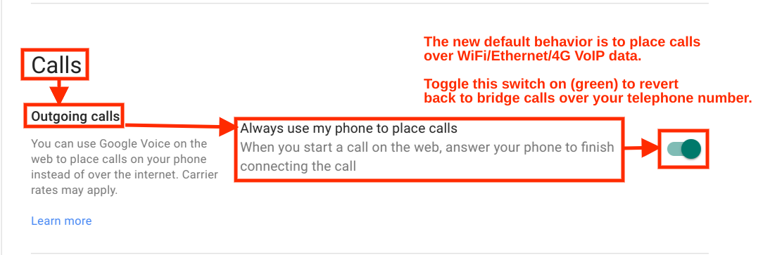 google voice call back