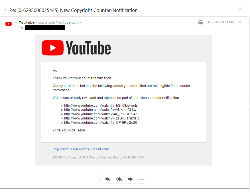 How to defend myself from organized false copyright claims