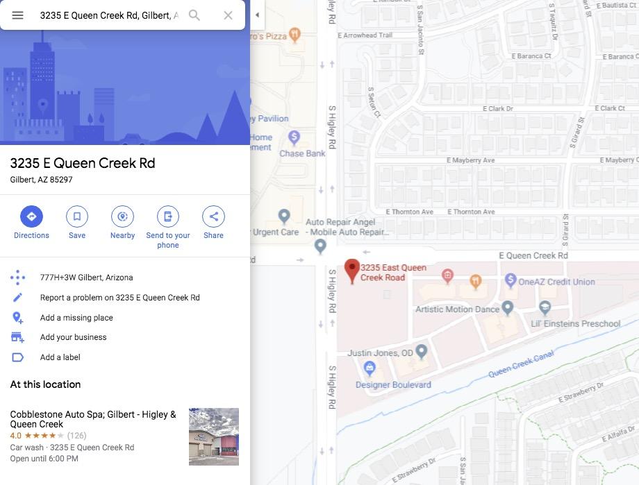 Map Of Arizona Showing Queen Creek.Searching 3235 E Queen Creek Rd Gilbert Az 85297